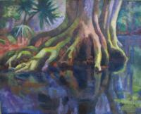 Botanicals - Roots Reflecting - Oil On Canvas