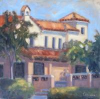 Landscapes - Campus Bldg - Oil On Canvas