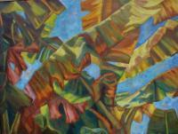 Botanicals - Palm Overlap - Oil On Canvas