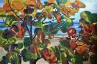 Botanicals - Beach Side Sea Grapes - Oil On Canvas