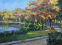 Landscapes - Lake Mizell Morning - Oil On Panel