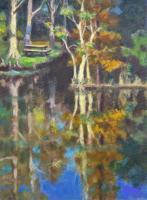 Landscapes - Reflections Mead Gardens - Oil On Canvas